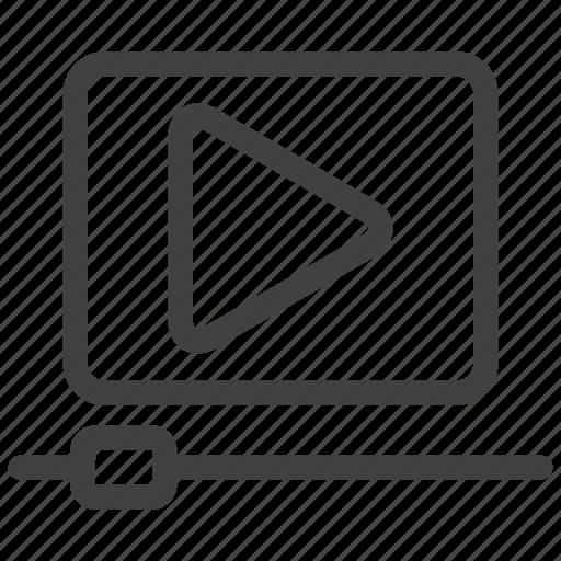 film, media, movie, multimedia, play, video icon