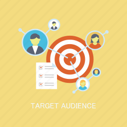 audience, concepts, focus, internet, marketing, seo, target icon