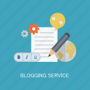 blog, blogging, concepts, internet, marketing, seo, service icon