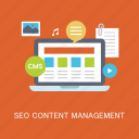 concepts, content, data, internet, management, marketing, seo icon