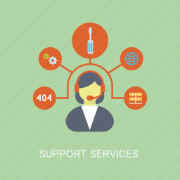 concepts, internet, marketing, operator, seo, services, support icon