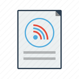 blog, feed, news, post, rss, update icon