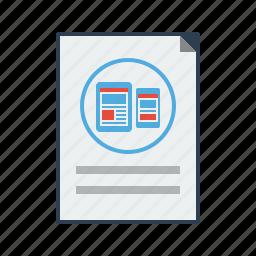 design, layout, mobile seo, responsive, web design, web development icon