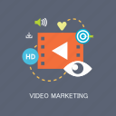 concepts, graphic, internet, marketing, motion, seo, video icon