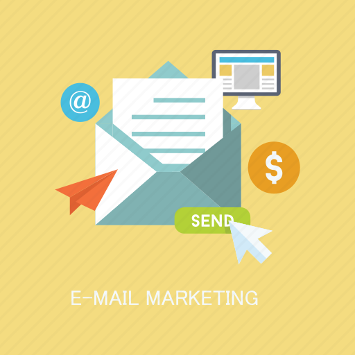 concepts, email, internet, letter, marketing, send, seo icon