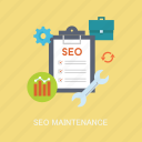concepts, internet, maintenance, marketing, optimization, refresh, seo icon