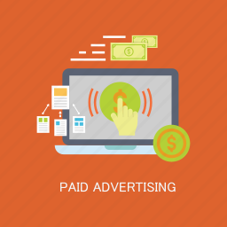advertising, click, concepts, internet, marketing, paid, seo icon