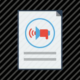 audio, business, marketing, promotion, seo, sound, speaker icon