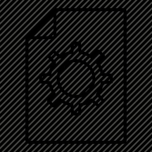 configure, document, file, setting icon