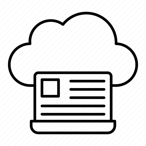 cloud, laptop, notebook, server icon