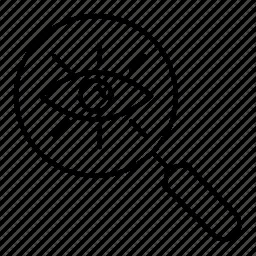 magnifier, search, seo, view icon