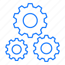 gear, internet, search, seo, web icon