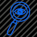 eye, marketing, search, seo icon