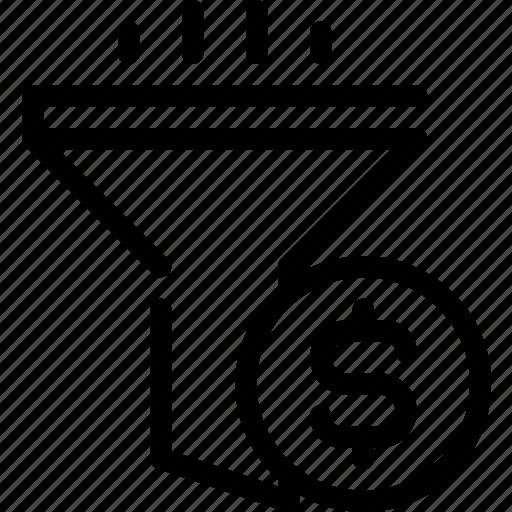 conversion, filter, finance, funnel, seo, sort icon