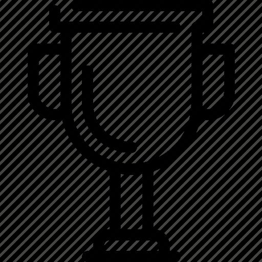 achievement, cup, line, prize, trophy, winner icon