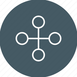 building, business, connect, connection, interchange, link, network icon
