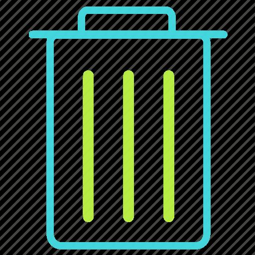 bin, cancel, recycle, remove icon