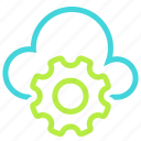 cloud, cloud settings, gear, settings icon