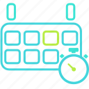 calendar, clock, event, history icon