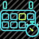 calendar, clock, event, history icon