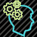 configure, gear, human, settings icon