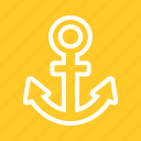 anchor, cruiseship, internet, link bulding, metal, nautical, seo icon