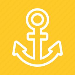 anchor, cruiseship, internet, link bulding, metal, nautical, seo icon