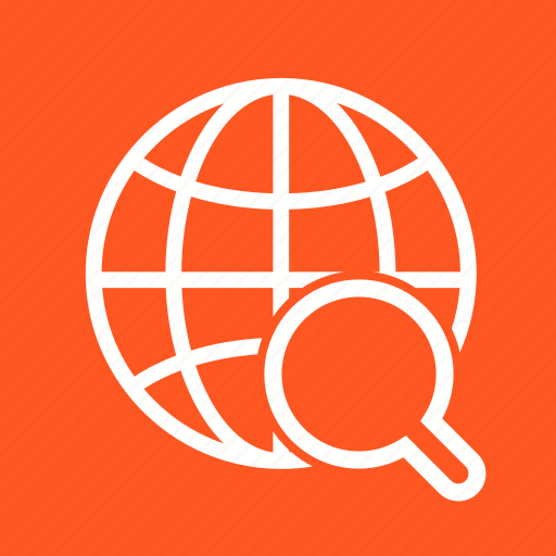 Glass, globe, internet, magnifier, magnifying, world, world map icon - Download on Iconfinder