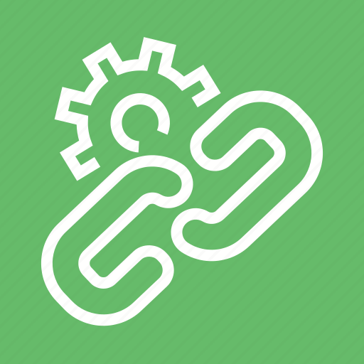Chain, connect, gear, interconnection, link, relation, settings icon - Download on Iconfinder