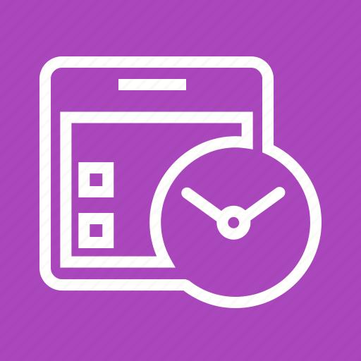 Calendar, clock, date, event, plan, schedule, watch icon - Download on Iconfinder