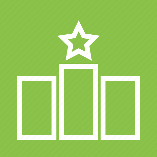 Bars, lines, position, pride, ranking, rating, star icon - Download on Iconfinder