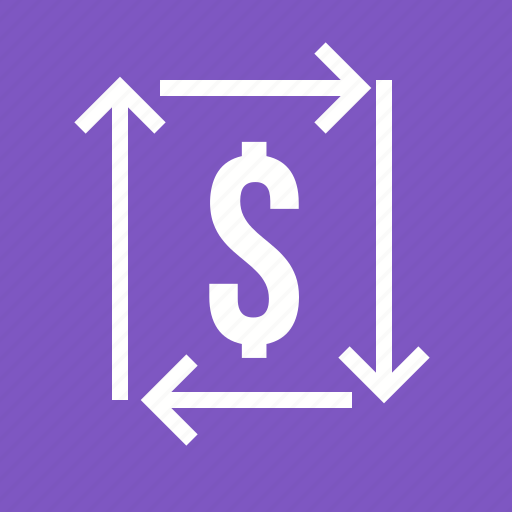 dollar bill, exchange, money, profit, return on investment, transaction, transfer icon