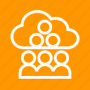 business, cloud, computing, internet, network, people, technology icon