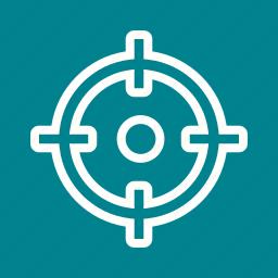 aim, arrow, market, marketing, strategy, target, targeting icon