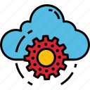 cloud, computing, configuration, gear, icon, setting