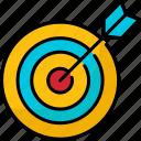 seo, marketing, darts, goal, target, arrow, icon
