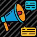 speaker, marketing, megaphone, announcement, message, communication, promotion