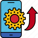 cogwheel, gear, marketing, ios, mobile, optimization, seo