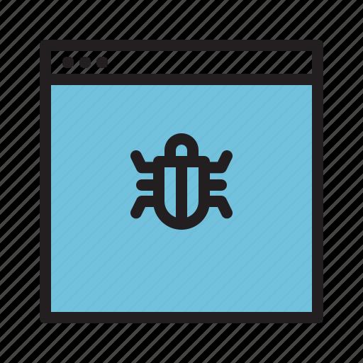 bug, page, web, website icon