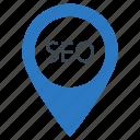 location, map, marker, pin, seo icon