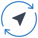 direction, navigation, refresh, reload, rotate icon