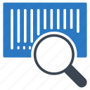 barcode, glass, scanning, search, seo icon