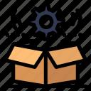 box, cog, gear, setting, wheel