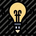 bulb, idea, light, science, solution icon