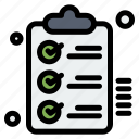 checklist, clipboard, tasks, todo, wishlist icon