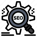 search, seo, setting, target, website icon