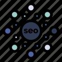 circle, globe, rank, seo icon