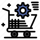 cart, online, setting, shopping, store icon