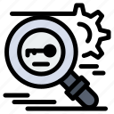 key, research, search, secure, security icon