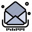 email, inbox, letter, mail, messages icon